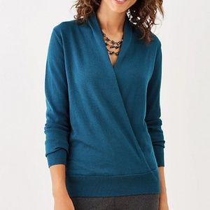 J. Jill Julia Wrap Pullover Sweater